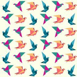 Papel de Parede Adesivo Birds Origami