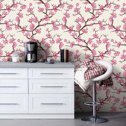 Papel de Parede Adesivo Cherry blossom