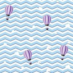 Papel de Parede Adesivo Chevron Boy Balões