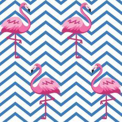 Papel de Parede Adesivo Chevron Flamingo