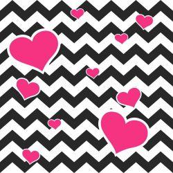 Papel de Parede Adesivo Chevron Heart