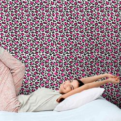 Papel de Parede Adesivo Oncinha Pink