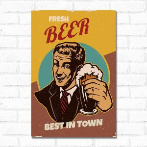 Placa Decorativa Beer Retro_2