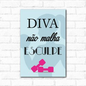 Placa Decorativa Diva