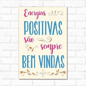 Placa Decorativa Energias Positivas
