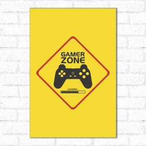 Placa Decorativa Gamer Zone