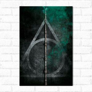 Placa Decorativa Harry Potter e as Relíquias da Morte