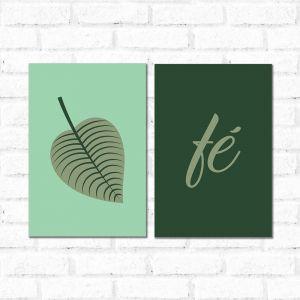 Placa Decorativa Kit Fé