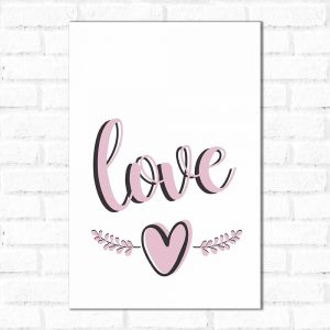 Placa Decorativa Love Clean