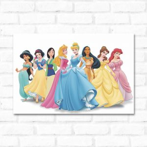 Placa Decorativa Princesas