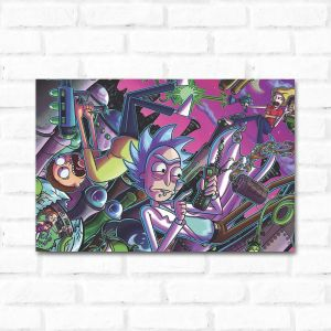 Placa Decorativa Rick and Morty