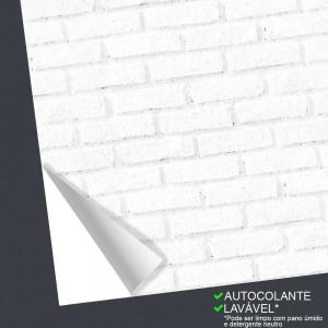 Outlet - 2 rolosPapel de Parede Tijolos Brancos (50cm x 1,40m)