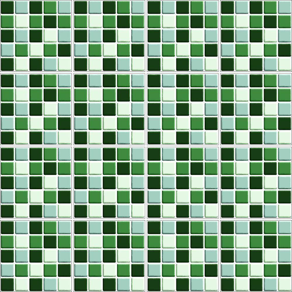 Adesivo de Azulejo Pastilha 3D Verde