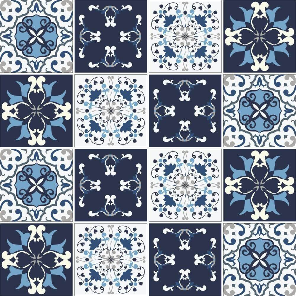 Adesivo de Azulejo Bragança  - Papel Pronto