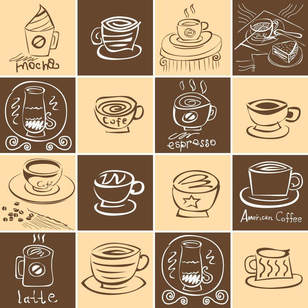 Adesivo de Azulejo Coffe