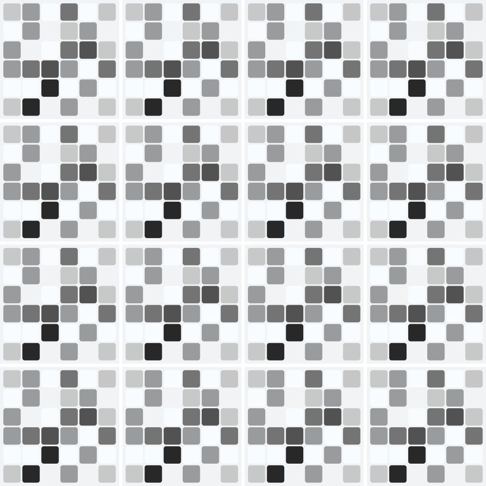 Adesivo de Azulejo Pastilha Grey  - Papel Pronto