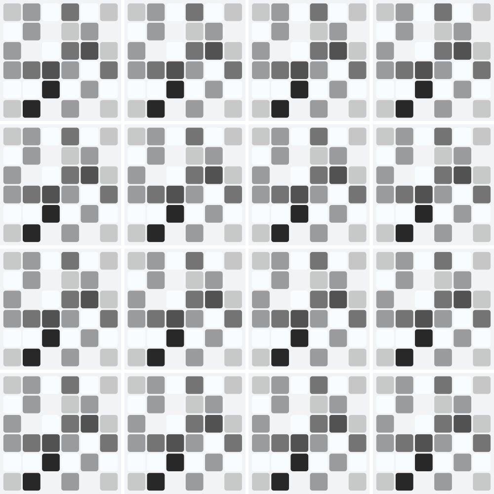 Adesivo de Azulejo Pastilha Grey