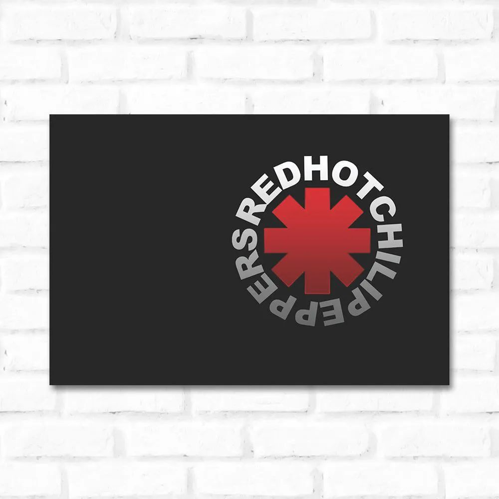 Outlet - Placa Decorativa Red Hot Chilli Peppers (17x25cm)