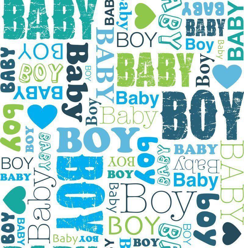 Papel de Parede Adesivo Baby Boy