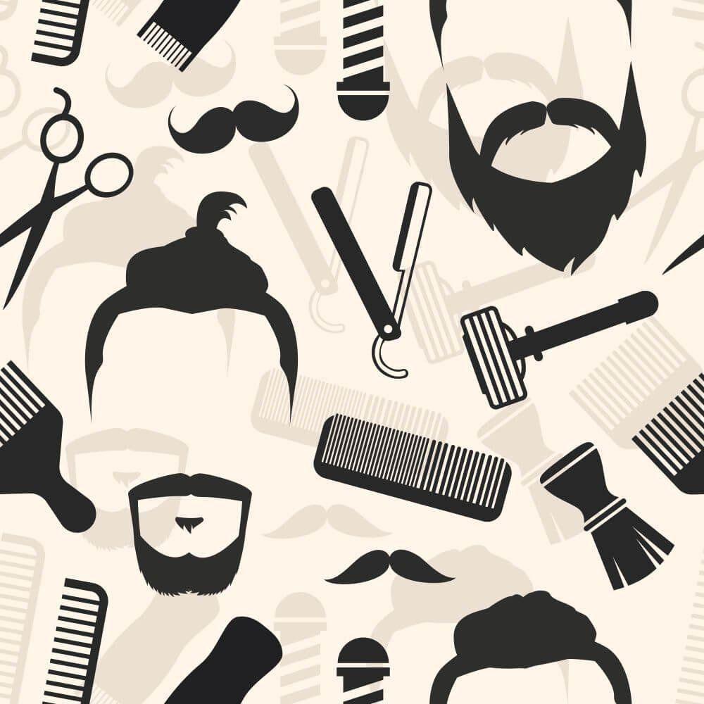 Papel de Parede Adesivo Barbearia