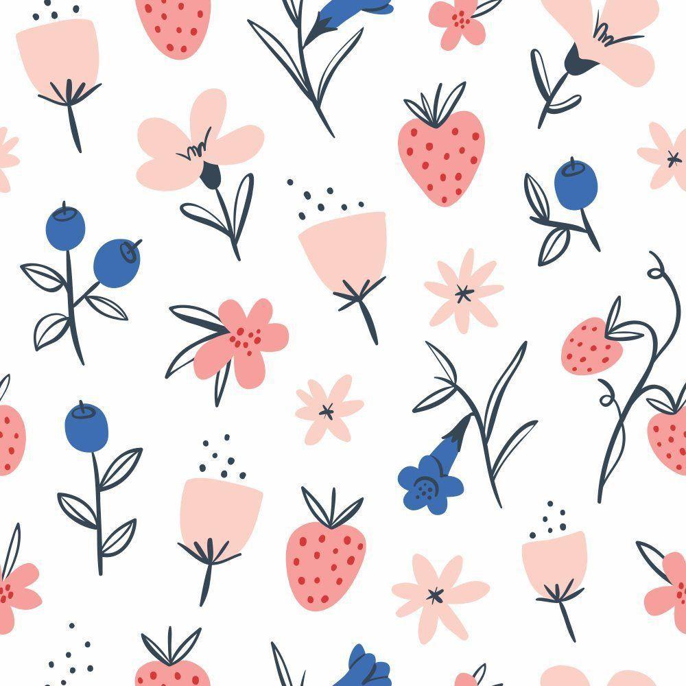 Papel de Parede Adesivo Blueberry