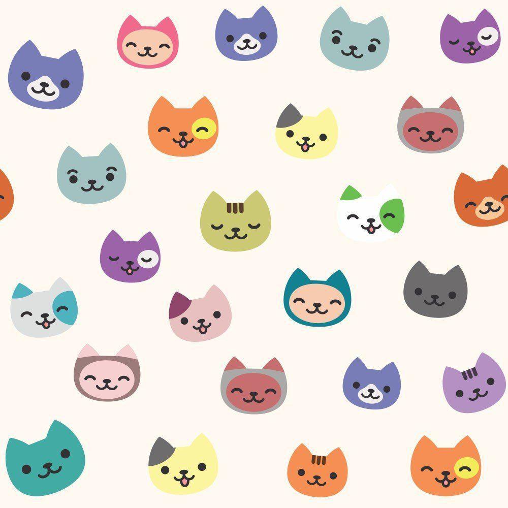 Papel de Parede Adesivo Cartoon Cats