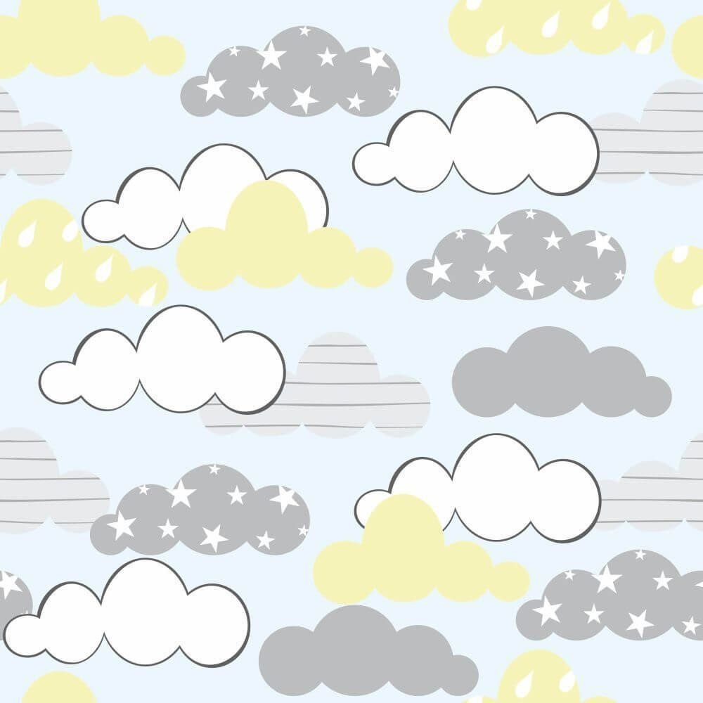 Papel de Parede Adesivo Céu Nuvens