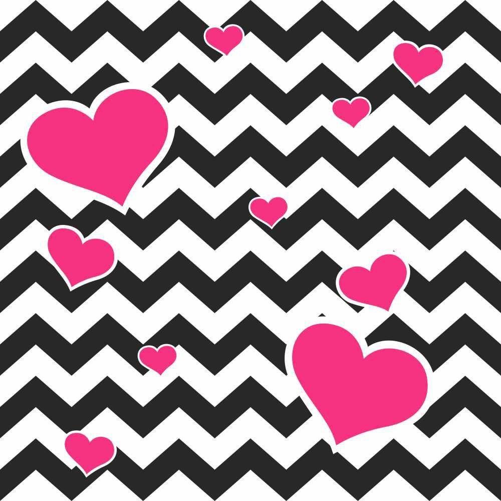 Papel de Parede Adesivo Chevron Heart  - Papel Pronto