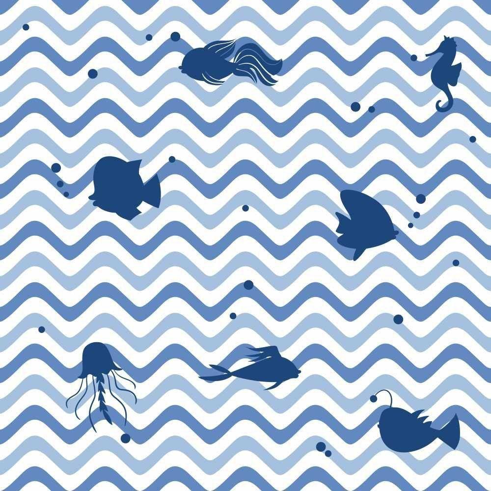 Papel de Parede Adesivo Chevron Oceano