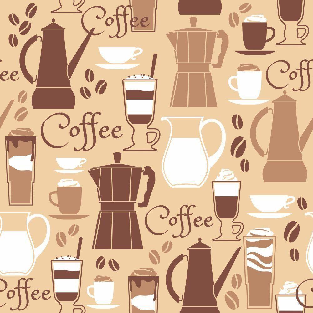 Papel de Parede Adesivo Coffee