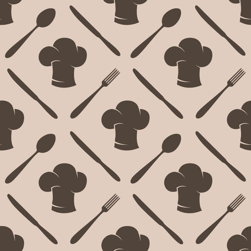 Papel de Parede Adesivo Cooking Brown