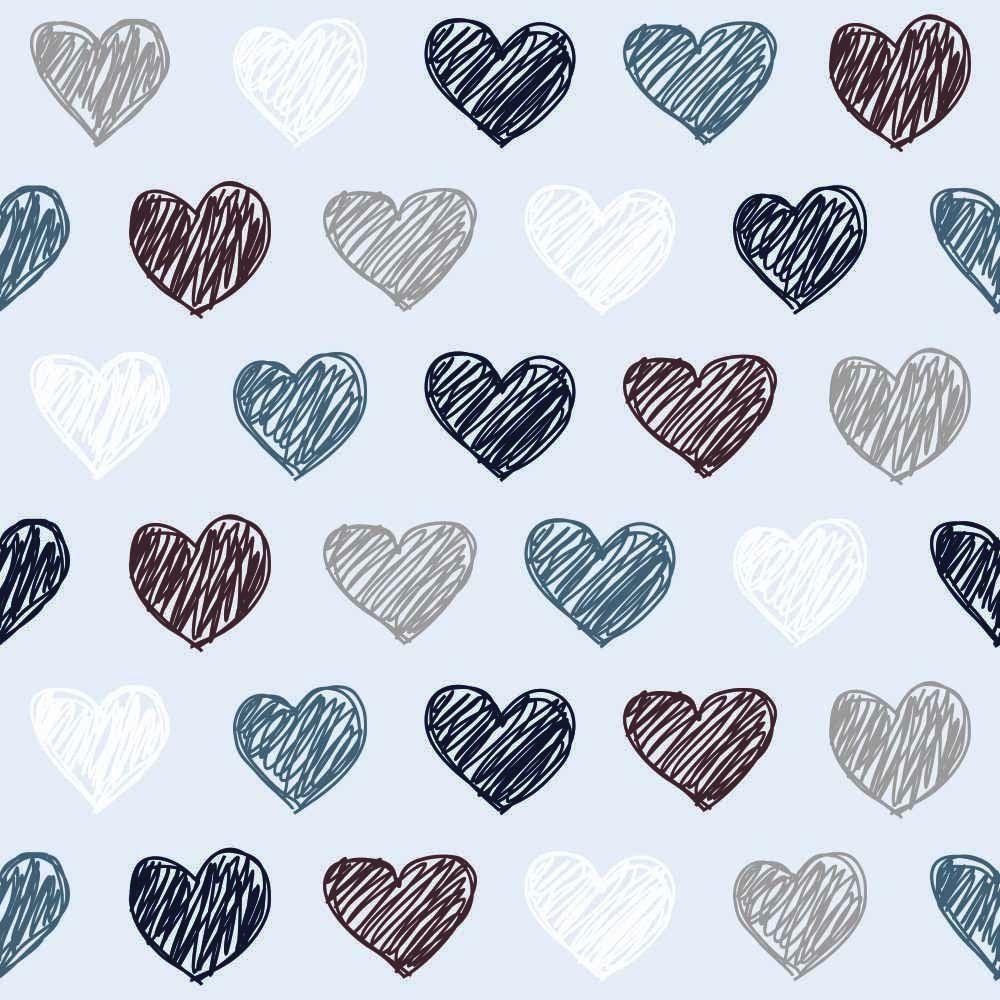 Papel de Parede Adesivo Corações Basic