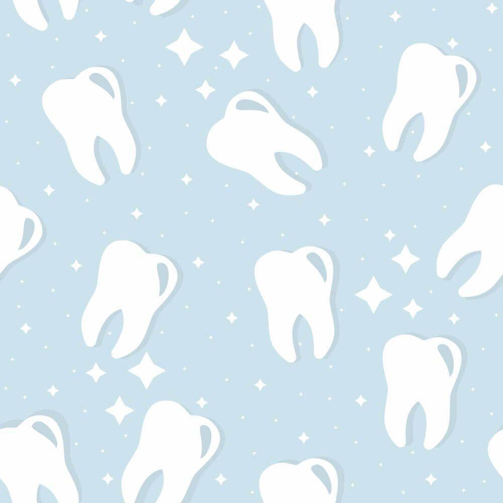 Papel de Parede Adesivo Dentes