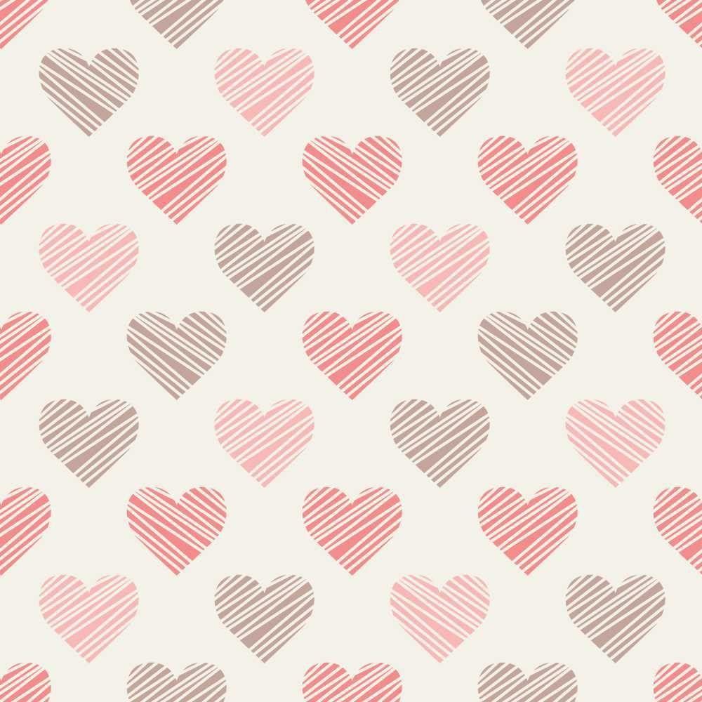 Papel de Parede Adesivo Drawn hearts