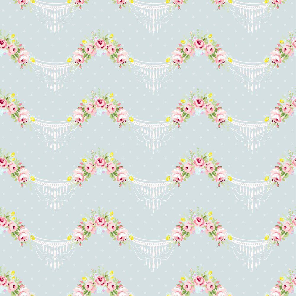 Papel de Parede Adesivo Floral Candelabro