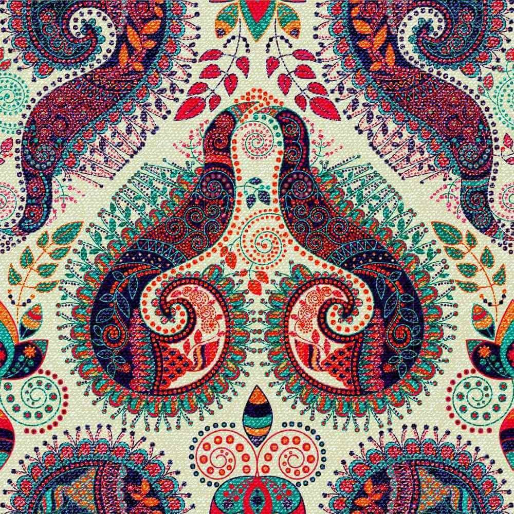 Papel de Parede Adesivo Floral paisley