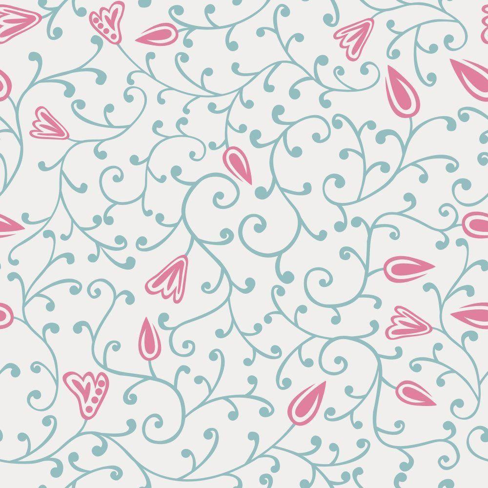 Papel de Parede Adesivo Floral Rana Pink