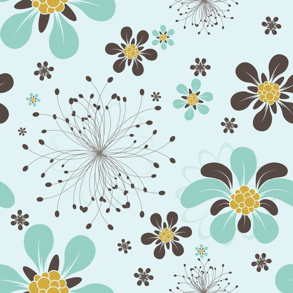 Papel de Parede Adesivo Floral Roga