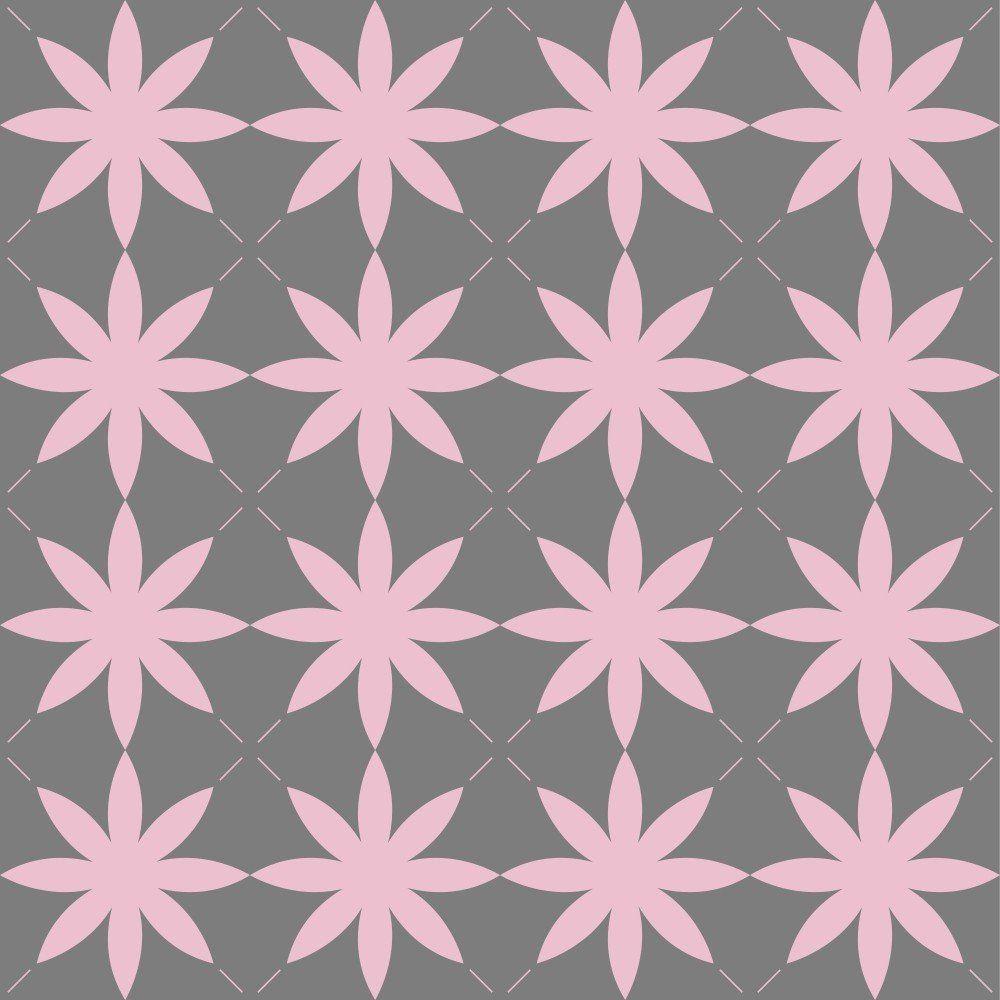 Papel de Parede Adesivo Flores Vintage