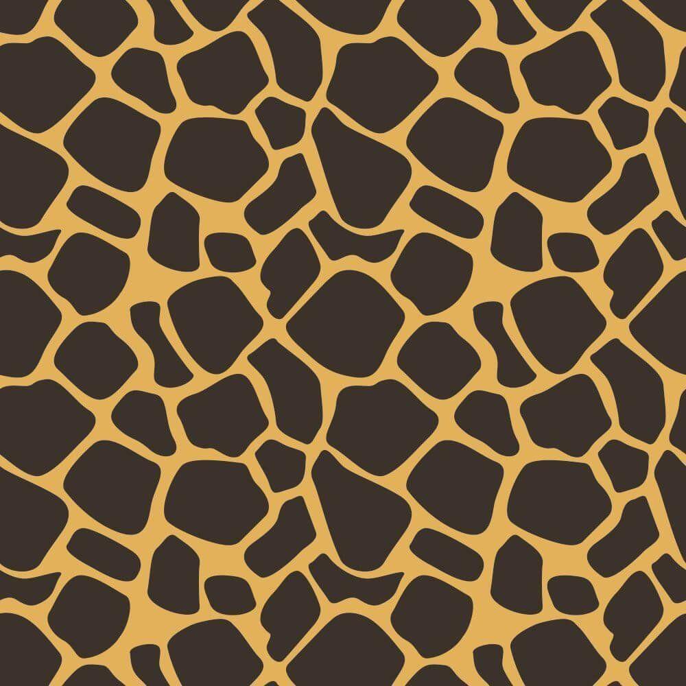Papel de Parede Adesivo Girafa