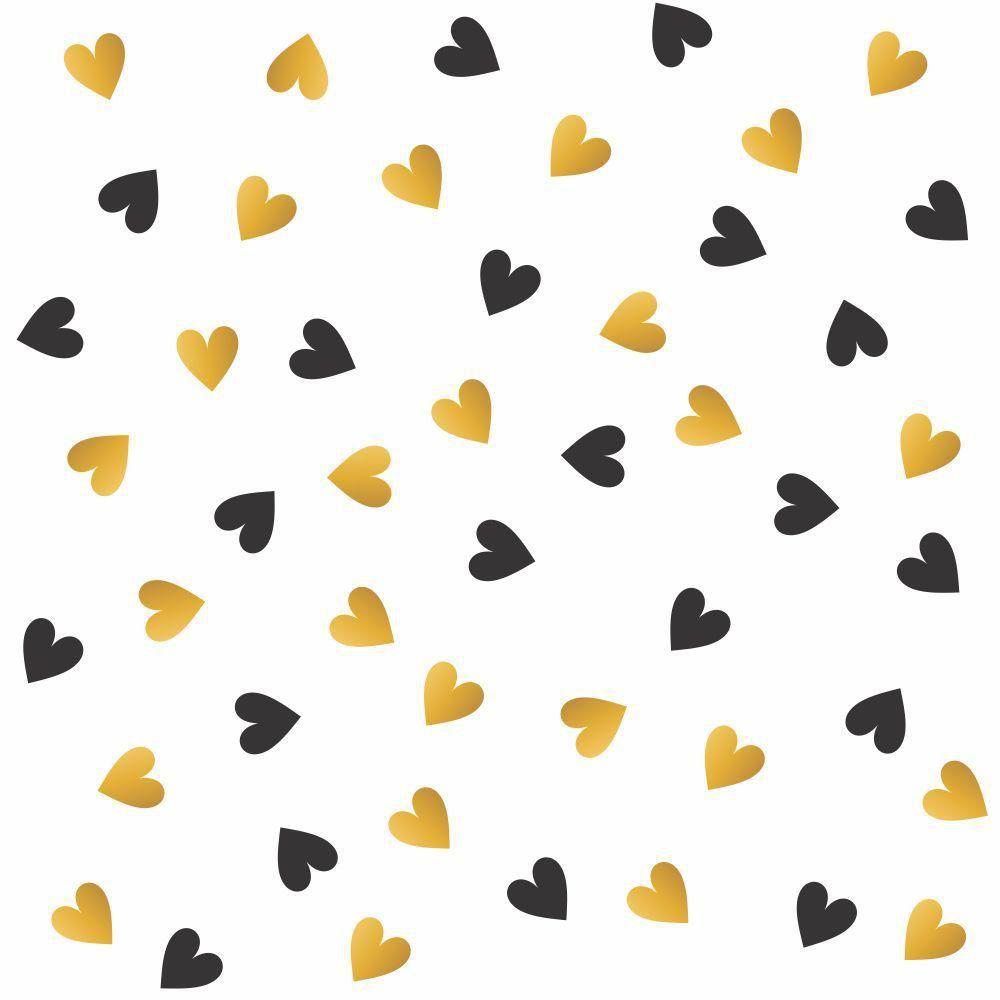 Papel de Parede Adesivo Golden Heart