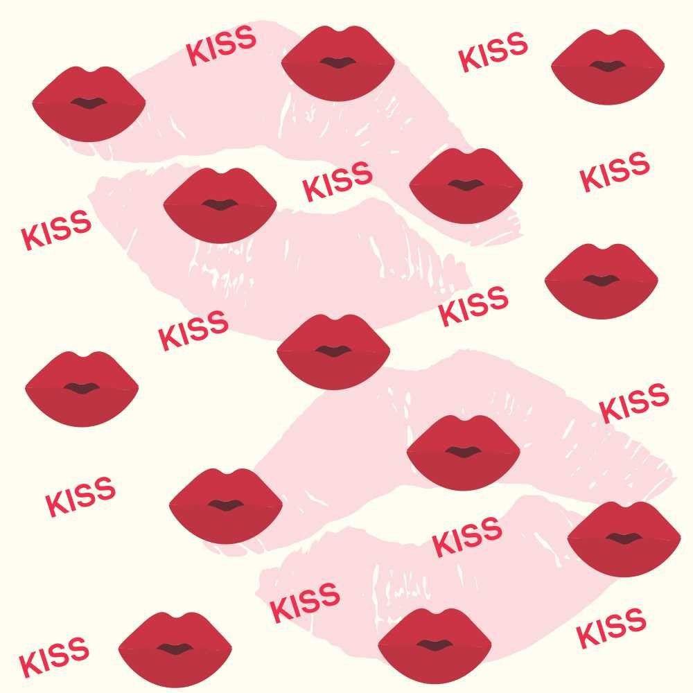 Papel de Parede Adesivo Kisses
