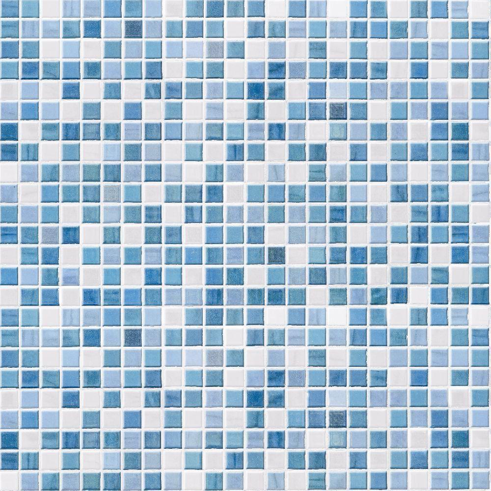 Papel de Parede Adesivo Ladrilhos azul