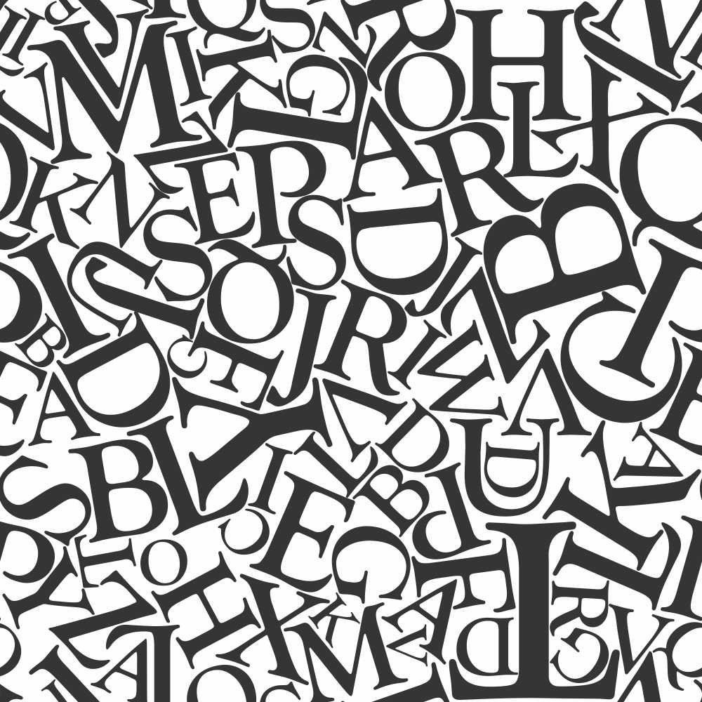 Papel de Parede Adesivo Letters