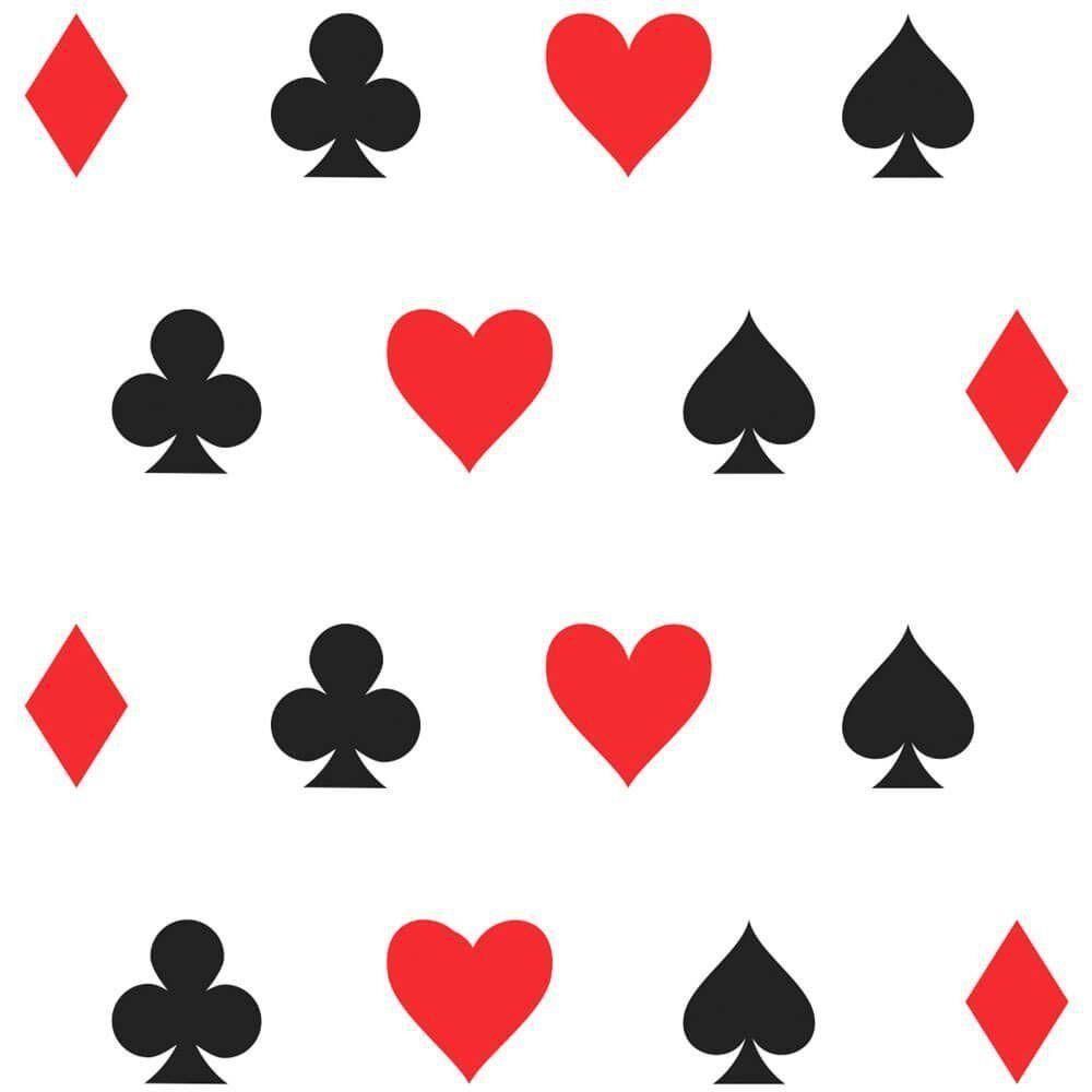 Papel de Parede Adesivo Naipes Poker