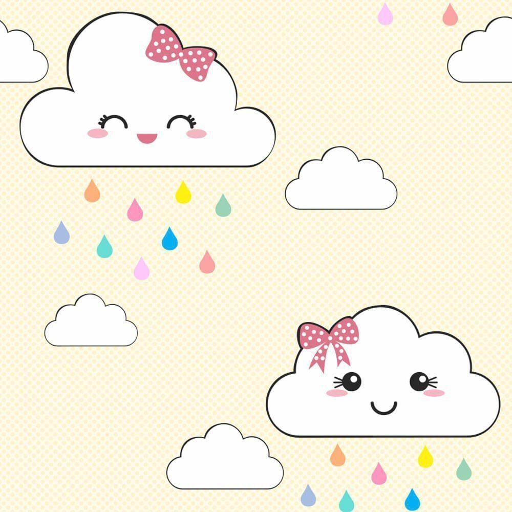 Papel de Parede Adesivo Nuvem Cute