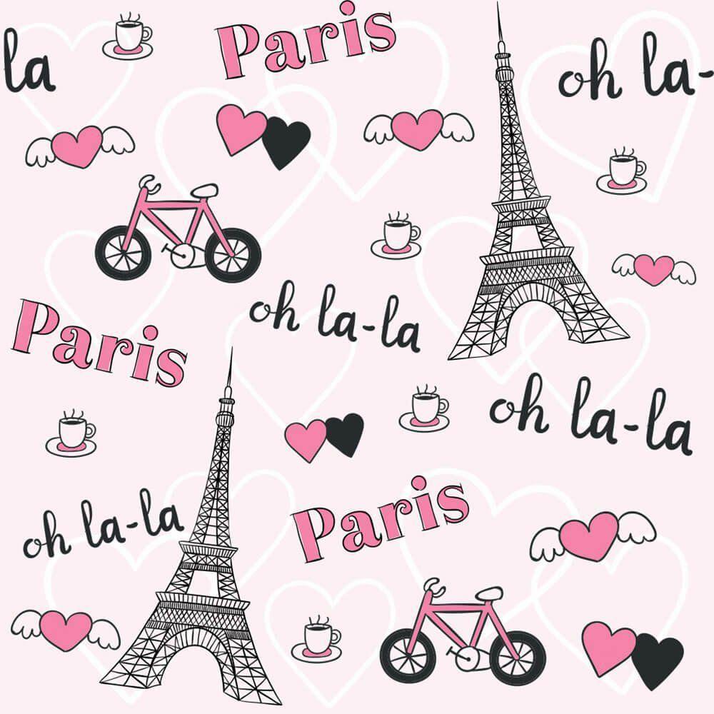 Papel de Parede Adesivo Paris Oh La La