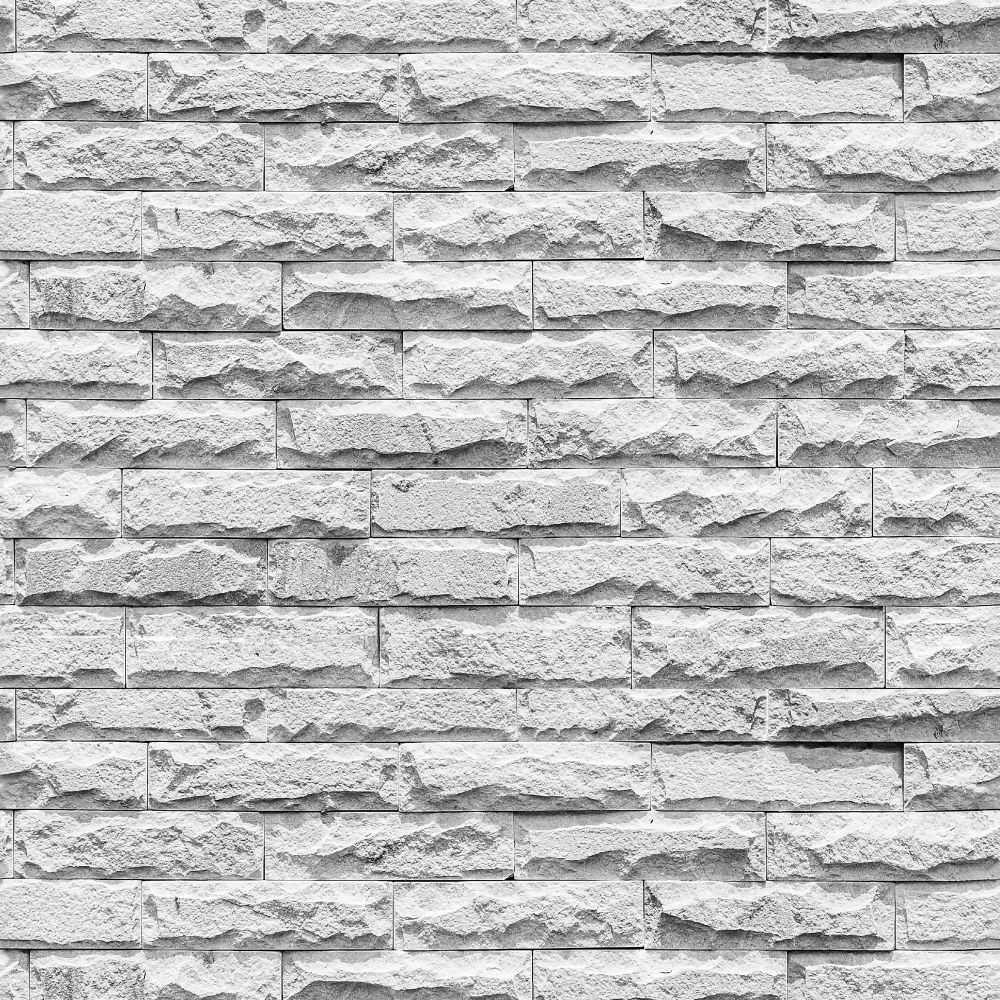 Papel de Parede Adesivo Pedras Brancas  - Papel Pronto
