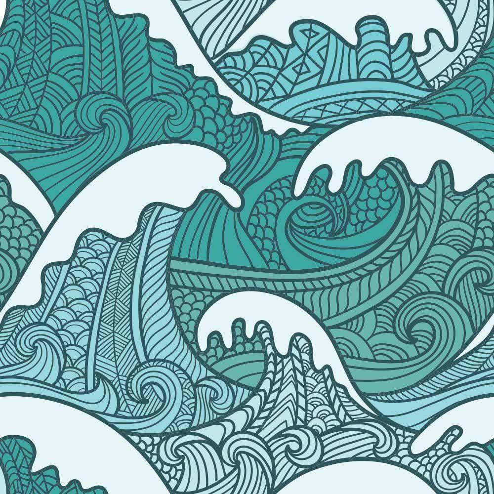 Papel de Parede Adesivo Sea