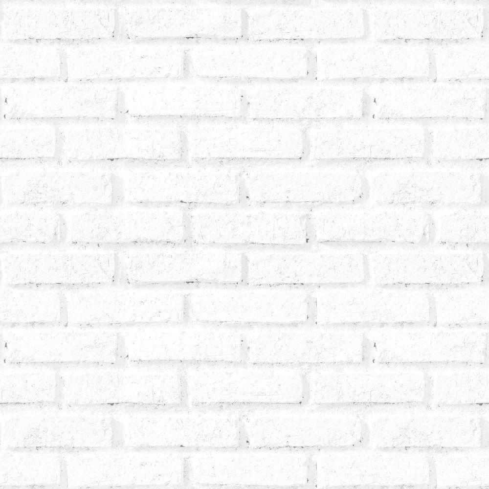 Papel de Parede Adesivo Tijolos Brancos